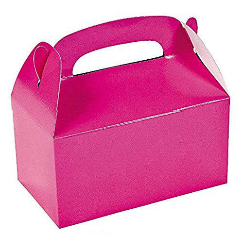 Hot Pink Bright Color Treat Boxes (Pack of 12) - Play Kreative TM (Hot Pink) ()