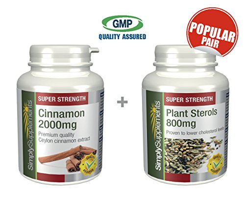 Simply Supplements Cinnamon 2000mg 120 Tablets + Plant St...