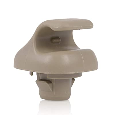 runmade Beige Sun Visor Hook Clip Bracket Hanger Replacement for Honda Accord Civic CRV Odyssey Pilot: Automotive