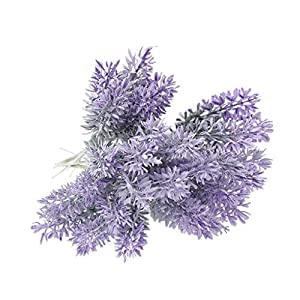 Susada Artificial Flowers Real Looking Purple Fake Lavender Bouquet Artificial Plant for DIY Wedding Bouquets Centerpieces Bridal Shower Party Home Decorations 99