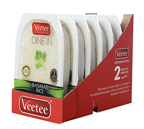 Veetee Dine In Rice - Basmati - Microwavable Rice, Ready in 2 minutes - 9.9 oz