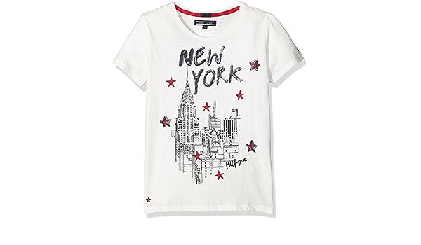 Tommy Hilfiger -New York CN Knit S/S -Camiseta NIÑA: Amazon ...