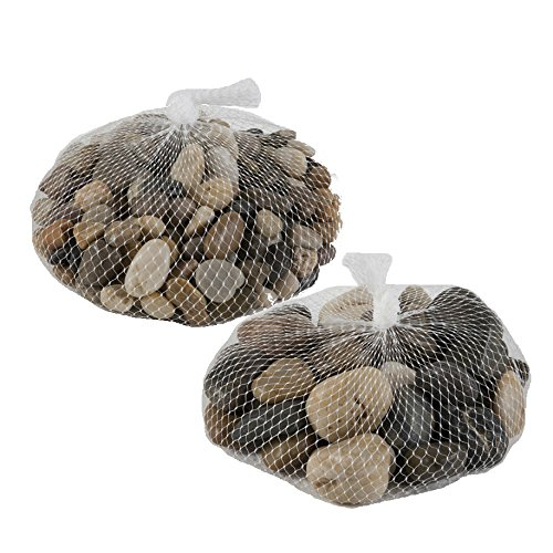 Decorative River Pebble Rocks 4 Lb. Bag of Multicolored Mixed Stones For Crafts House Garden Outdoor Indoor Office Beach Landscape Patio Lawn Yard Walkway Aquarium Planter Fish Bowl Tank And - Blessings Glass Bowl