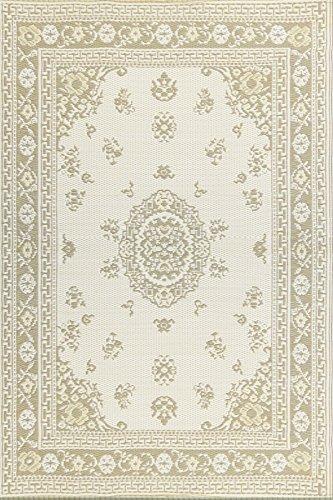 Mad Mats Floral Indoor/Outdoor Floor Mat, 4 by 6-Feet, Light Umber
