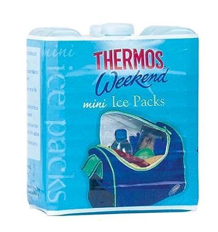 Thermos Weekend reutilizable Mini bolsas de hielo, 100g, color azul, 2unidades 5010576794086