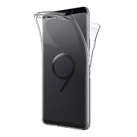 AICEK Funda Samsung Galaxy S9 Plus, Transparente Silicona 360°Full Body Fundas para Samsung S9 Plus Carcasa Silicona Funda Case (6,2 Pulgadas)