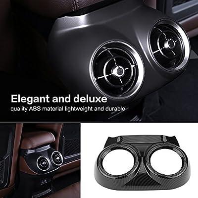 Qiilu Car Interior Rear Row Seat Air Conditioner Outlet Trim Cover Frame for Alfa Romeo Stelvio: Automotive