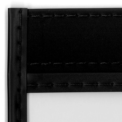 StoreSMART - Rigid Stitched Shop Ticket Holders - Black - 50 pack - 9 x 12 inches - Open Short Side - T85726S-BK50
