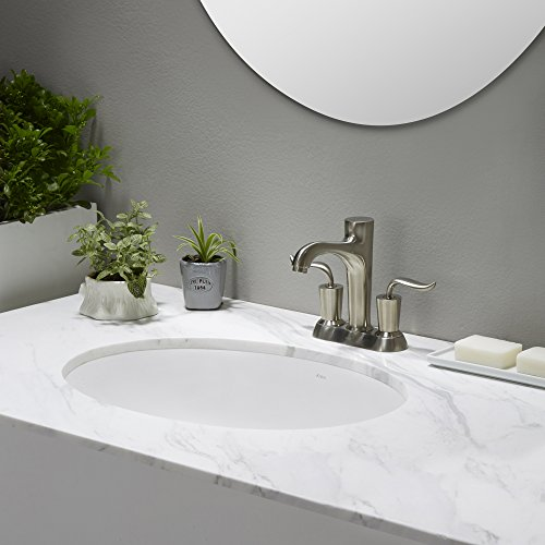 KRAUS Elavo 17 Inch Oval Undermount Porcelain Ceramic Bathroom Sink in White with Overflow, KCU-211 by Kraus (Image #12)