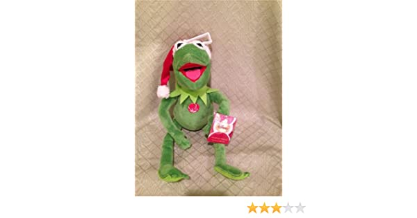 Amazon Kermit The Frog Muppet Christmas Plush Toy 13 Collectible Singing Animated Musical Jingle Bells Toys Games