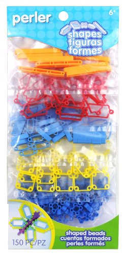 Perler Beads Perler Shapes Bead Bag, Primary Color Mix