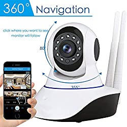 Elegantstunning Wireless 1080p Ip Security Camera Infrared Night Vision Digital Micro Cam Network Cctv Wifi Webcam Uk Plug