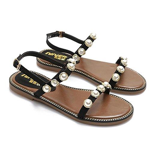 XZGC Mujer Zapatos de tacón negro