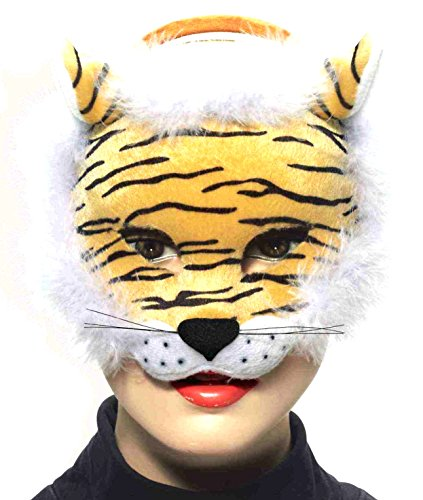 Mask Tiger Deluxe (Forum Novelties Deluxe Plush Striped Tiger Animal Half)