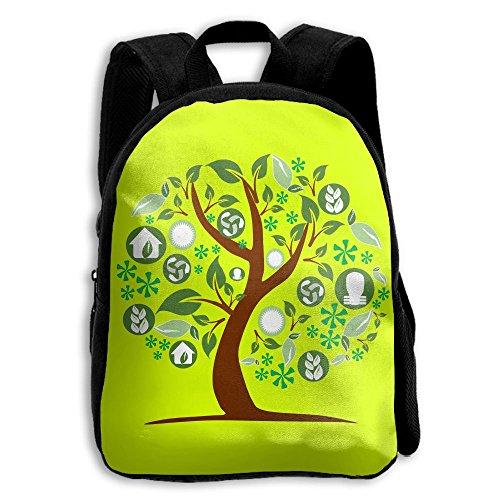 Tree Kids Backpacks Double Shoulder Print School Bag Travel Gear Daypack Gift by LAUR