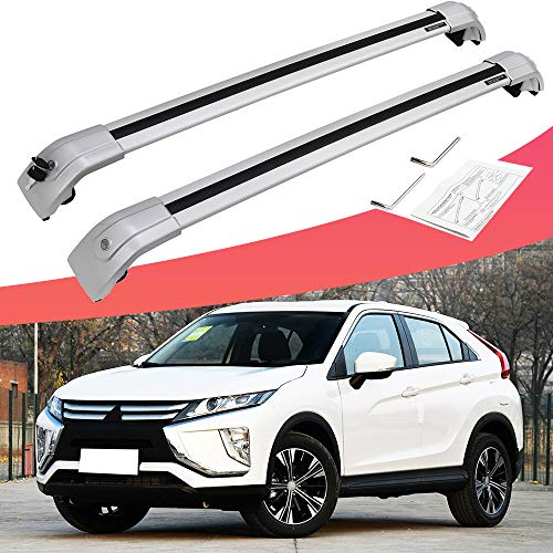 SnailAuto Fit for 2018 2019 Mitsubishi Eclipse Cross Roof Rack Rail Adjustable Cross Bars (Roof Mitsubishi Eclipse Rack)