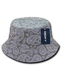 DECKY 459-PL-GRY-06 Paisley Bucket Hat, Grey, S_M