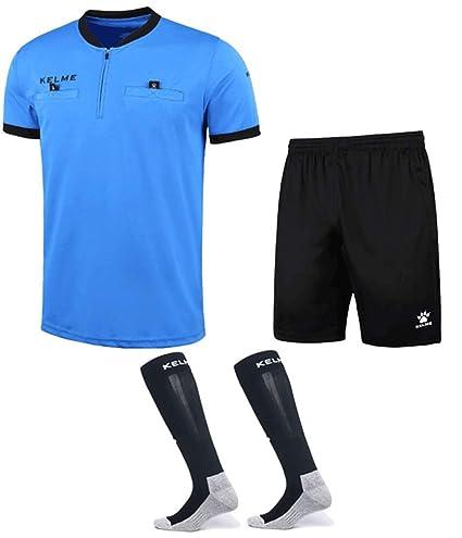 f3d39bebfea Amazon.com  KELME Pro Soccer Referee Jersey Bundle - Includes ...