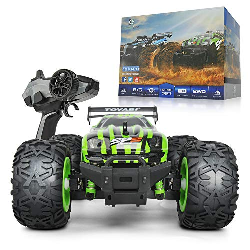 Gizmovine Remote Control Car Large Size Rc Cars Off Road Monster Racing Truck for Kids Vehicle Toy , 2019 Version (Green & Black)