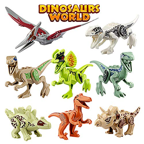 - Growland Dinosaur Toys Gifts 8 PCS Dinosaur Building Blocks Mini Plastic Dinosaur Figures Realistic Dinosaur Party Favors Sets for Boys Girls Kids and Toddlers
