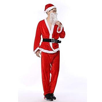 NJFJ Disfraz De Santa Claus Traje De Traje De Navidad De Los ...