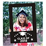 BinaryABC Graduation Photo Booth Picture Frame, Graduation Party Supplies 2018,Graduation Decorations