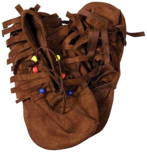 Hippie Shoes Costume (Forum Novelties Child's Native American/Hippie Novelty Moccasins)