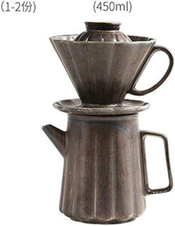 SEESEESEESEEUU - Juego de tazas de café para cafetera de café (cerámica), diseño de embudo en forma de V: Amazon.es: Hogar