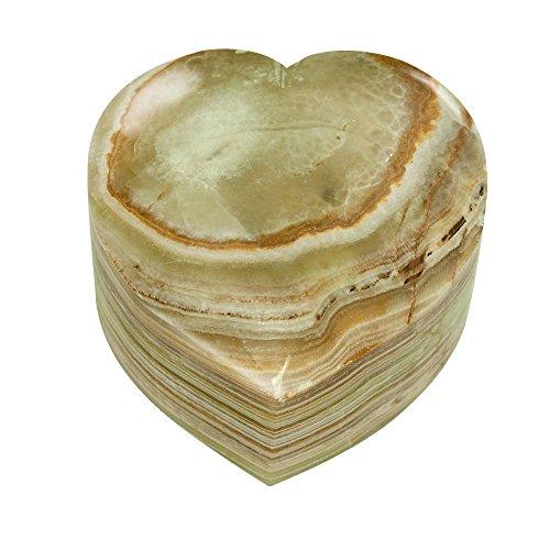 Perfect Memorials Oceanward Heart Stone Keepsake Cremation Urn