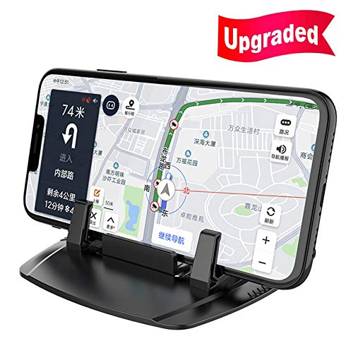 Cell Phone Holder for Car,2019 Upgrade Car Phone Mount Anti Slip Silicone Dashboard Car Pad Mat for 3.5-7 inch Smartphone or GPS Devices(Black) by BUBM