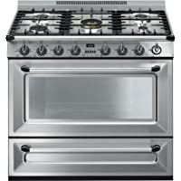 Smeg TRU36GGX 36 Victoria Series Gas Freestanding Range with 5 Burners, in Stainless Steel