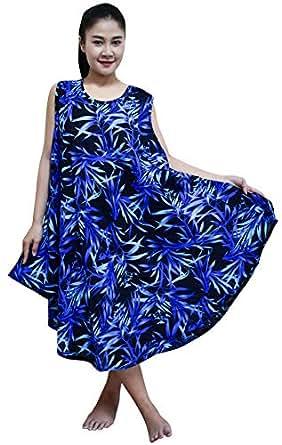 Pikulla Sleeveless Women's Bamboo Leaf B Gypsy Sundress