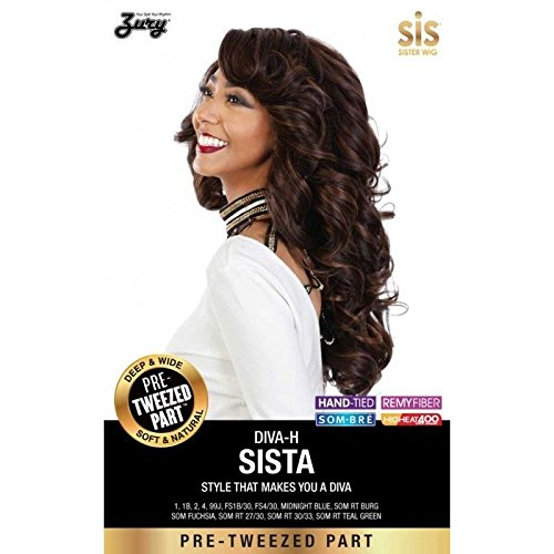 [Zury Hollywood Sis Wig Pre Tweezed Part Wig DIVA H SISTA (#4 MEDIUM BROWN)] (Divas Wigs)
