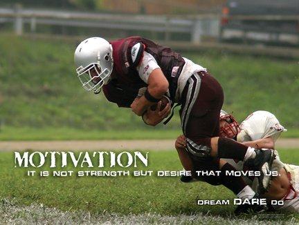 Football Team Motivation Poster - Positive Attitude and Inspiration for School Sports Athletics. Motivation