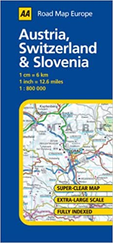 Austria, Switzerland and Slovenia (AA Road Map Europe Series ...