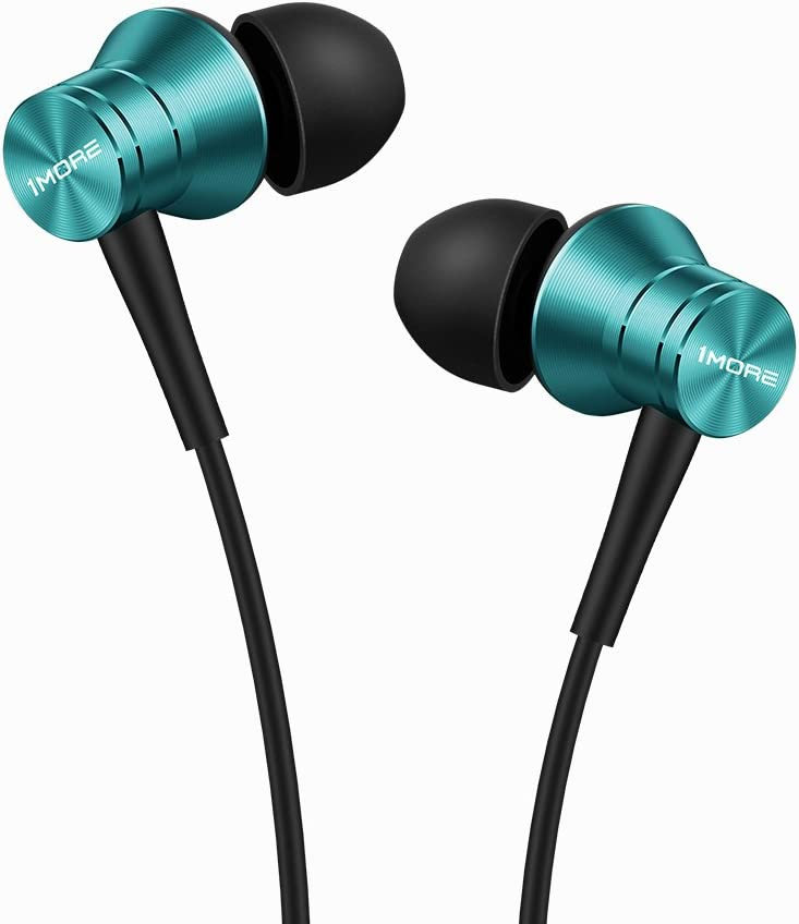 1MORE Piston Fit in-Ear Earphones Fashion Durable Headphones with 4 Color Options, Noise Isolation, Pure Sound, Phone Control with Mic for Smartphones/PC/Tablet - Blue (E1009)