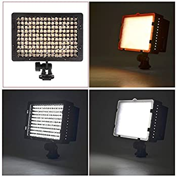 Neewer Cn-160 Led Dimmable Ultra High Power Panel Video Light Kit: Cn-160 Led Light,(2)2600 Mah Battery, Usb Battery Charger & Carrying Case For Canon, Nikon, Pentax, Sony Dslr Cameras,dv Camcorders 4