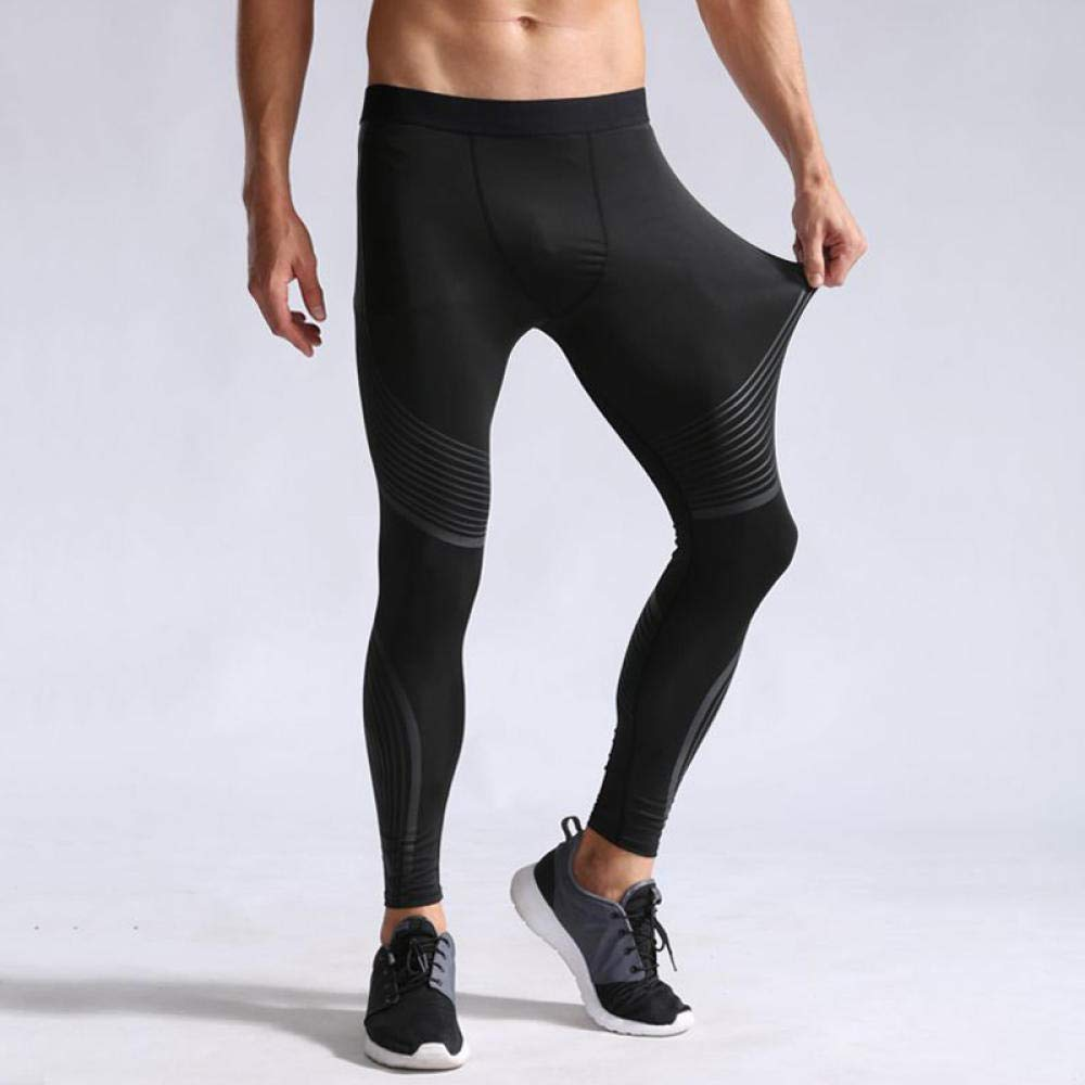 DHDHWL Mens Running Leggings,Compression Pants Mens Leggings Tights Men Sport Pants Fitness Sports Leggings Man Running Pants Compression Men Striped Pants