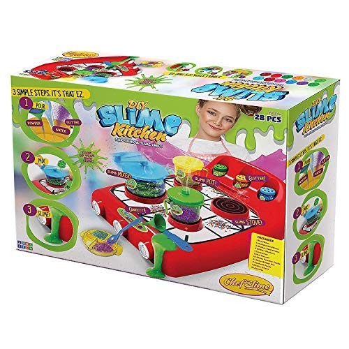 Slime Kitchen | Mega Slime Factory Kit | Everything Included to Create Your Own Slime | Super-Stretchy Multicolored | 28 pc | DIY Gift idea by ChefSlime