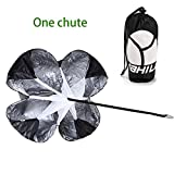 "Yahill® 48"" inch Speed Resistance Training Parachute Running Chute Set (1 Waist Belt + 1 or 2 Chutes) with Free Carry Bag (With one chute)"