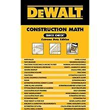 DEWALT Construction Math Quick Check: Extreme Duty Edition (DEWALT Series)