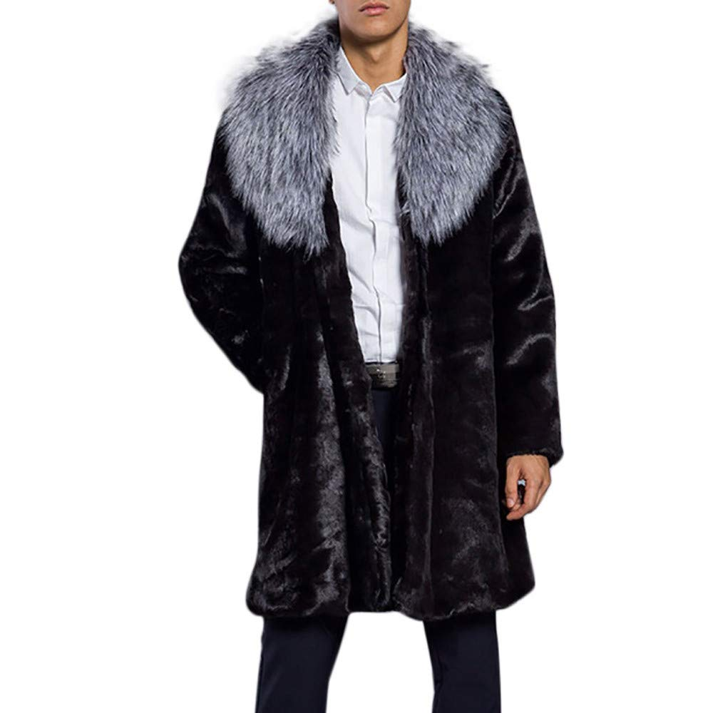 Amazon.com: Hot Clearance! Daoroka Mens Autumn Winter Warm Thick Faux Fur Parka Jacket Outwear Cardigan Fashion Casual Coat Tops Blouse: Toys & Games