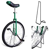 24'' Inches GREEN Unicycle 1.75 Skidproof Tire w/ Stand Cycling Exercise Mountain Wheel