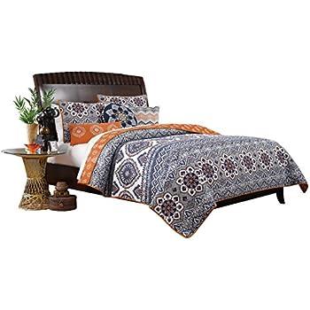 Amazon.com: Greenland Home 3 Piece Medina Quilt Set, King, Saffron ...