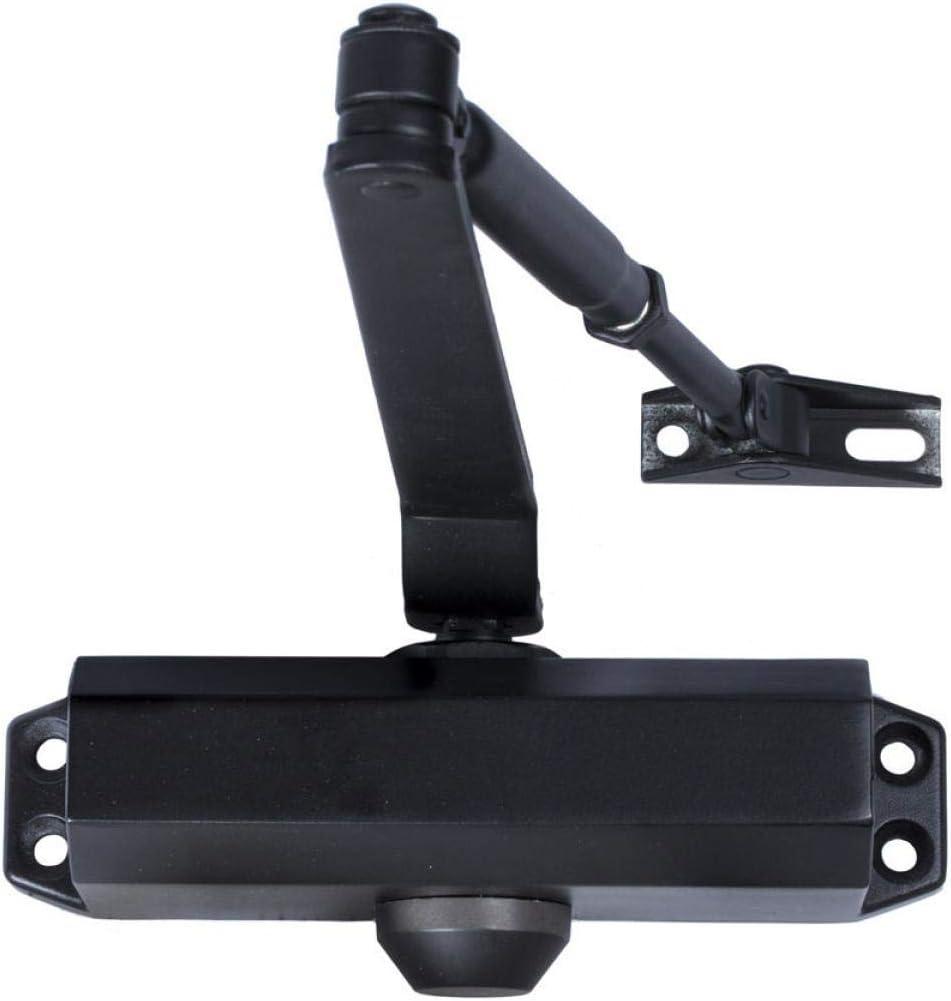 Wolpack 3018005 - Cierra puertas con retenedor, Fuerza 2, Puertas 70/90 cm, Color Negro