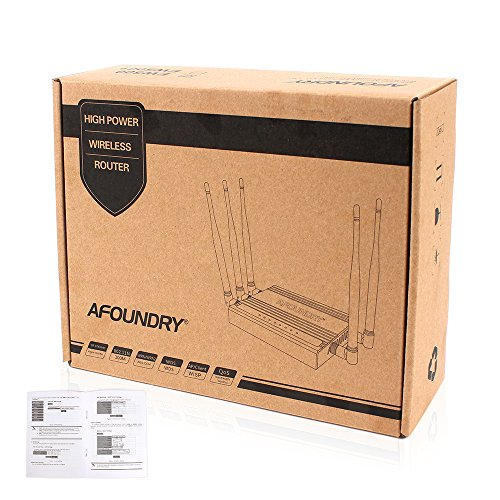 AFOUNDRY High Power Dual Band Wireless WiFi Router, 1200Mbps Gigabit Computer Router with 6 External Antennas, 3 Processors,Best Enterprise Router for Business,Large Home,Villas by AFOUNDRY (Image #8)