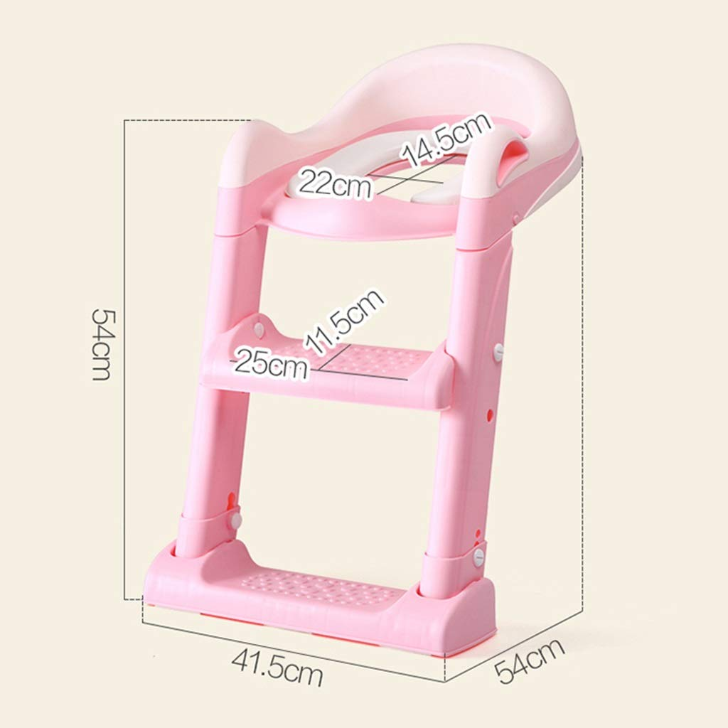 XWJC Children's Toilet Toilet Baby Toilet Seat Baby Toilet Ladder Child Toilet Seat Soft Cushion (Color : Pink) by XWJC (Image #8)