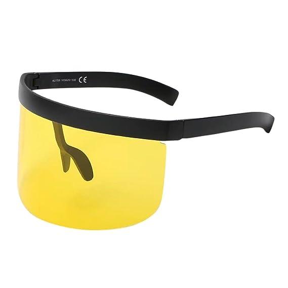 gafas de sol mujer Gafas de sol vintage unisex Marco de gran tamaño retro Sombrero Gafas Anti-peeping Mujer Oversized Gafas De Sol Polarizadas Protección ...