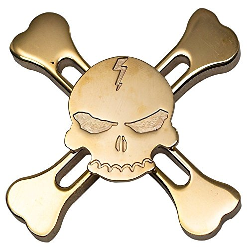 Weirui Brass Golden Skull Fidget Spinners Hand Spinners Time Killer Toy With Ceramic Bearing