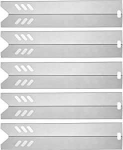 """SUONA 15"""" Stainless Steel BBQ Gas Grill Heat Plate Shield Tent Replacement for Dyna-Glo DGF510SBP, Backyard BY13-101-001-13, BY14-101-001-02, Uniflame GBC1059WB 5Pack"""